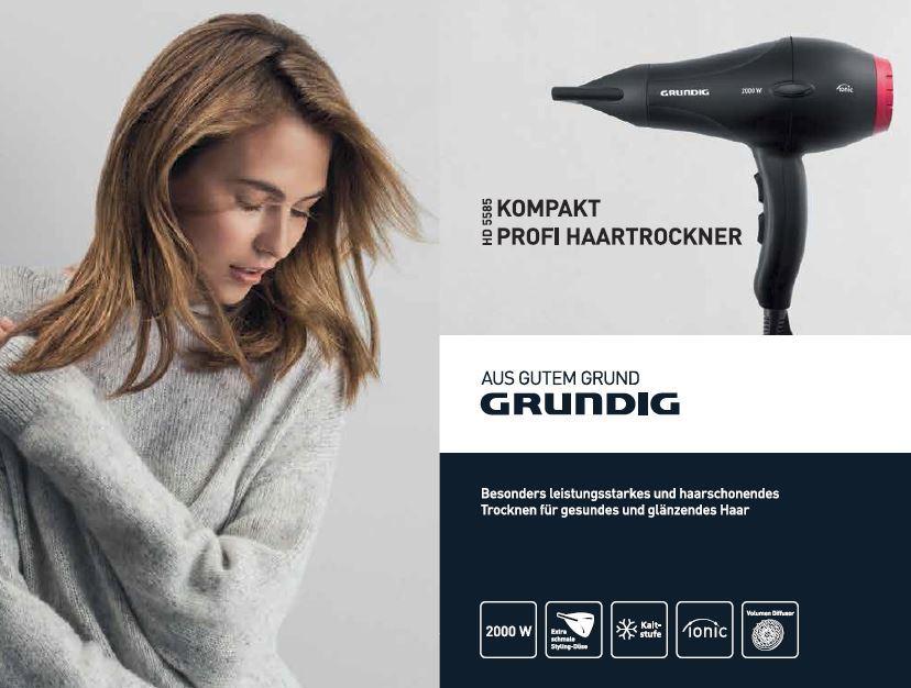 Sèche-Cheveux Professionnel Compact HD5585- 2000W - Noir & Rouge