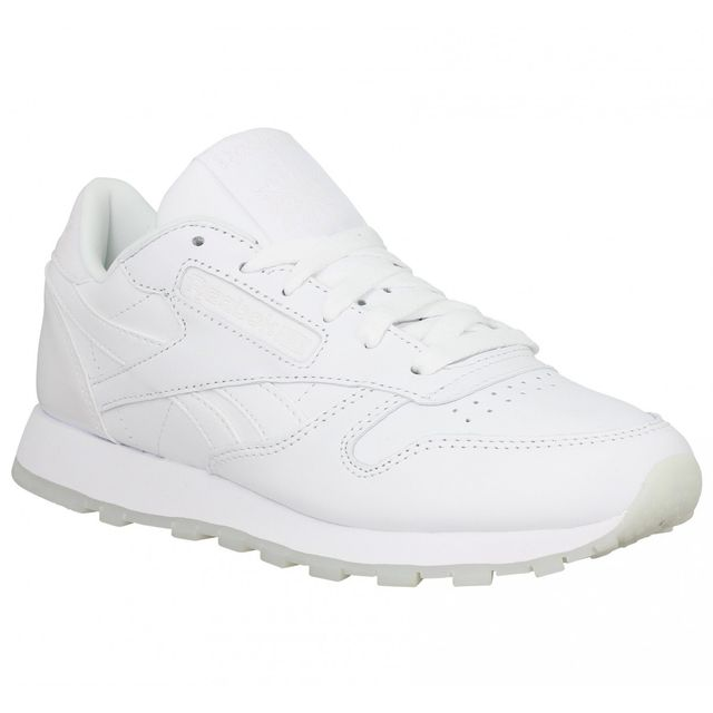 Reebok Classic Leather cuir Femme 37 White Ice Blanc pas