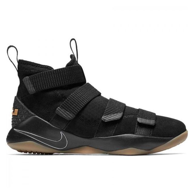 new arrival 8437d 082b8 Nike - Chaussure de Basket-Ball Nike Lebron Soldier Xi Noir black gum pour  homme