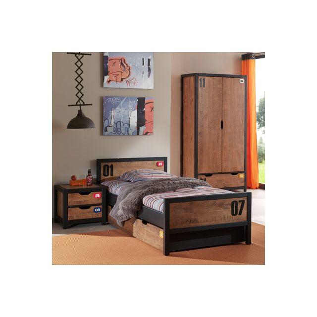 49 sur ensemble meubles de chambre armoire penderie for Ensemble lit armoire commode