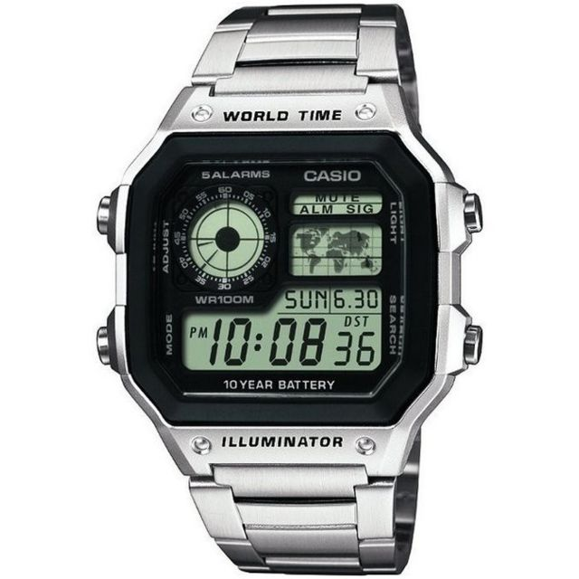 Casio Ae 1200WHD 1AVEF Chronographe Chronographe pas ITtQn