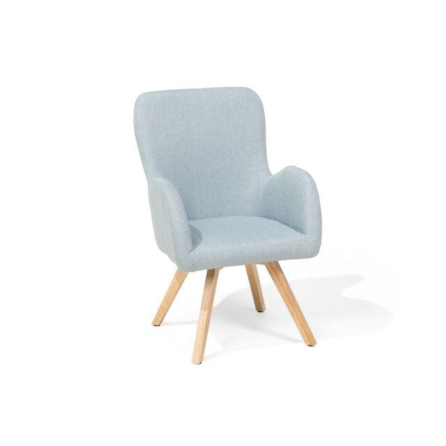 beliani fauteuil en tissu fauteuil tapiss bleu clair bjarn bleu ciel n a n a pas. Black Bedroom Furniture Sets. Home Design Ideas