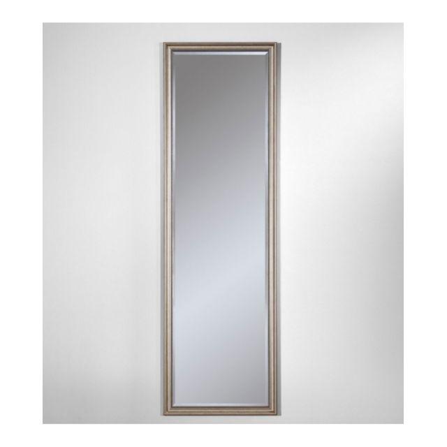 Deknudt Mirrors Miroir Ankara Silver Hall Traditionnel Classique Rectangulaire Argenté 42x138 cm