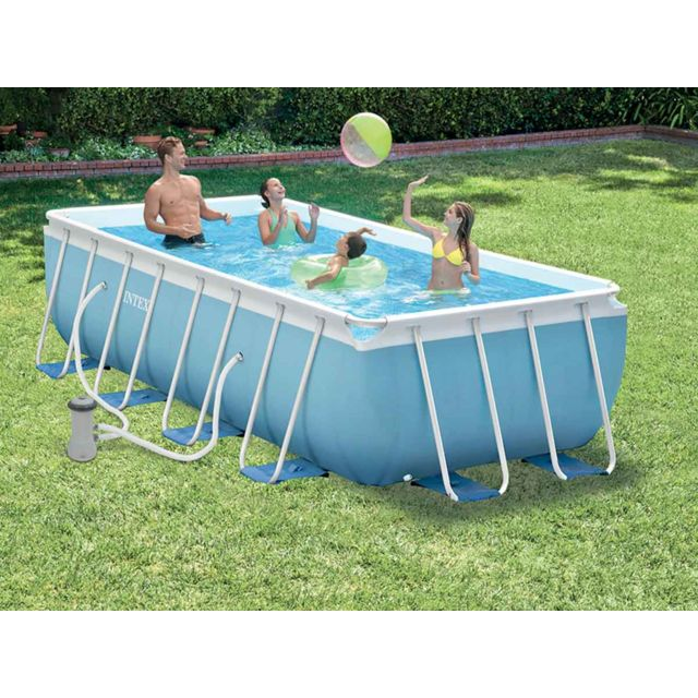 Intex Piscine Tubulaire Rectangulaire 4 00 X 2 00 X 1 00 M