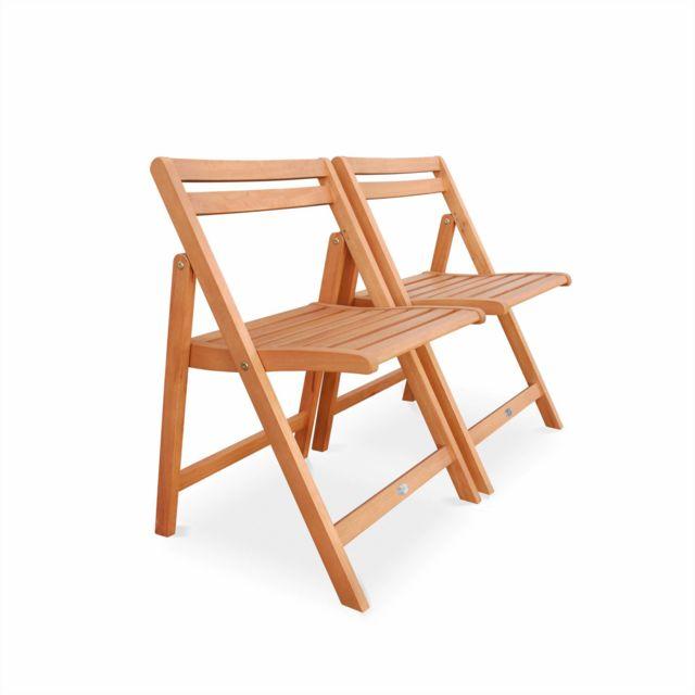 ALICE\'S GARDEN - Salon de jardin en bois pliable - Merida ...