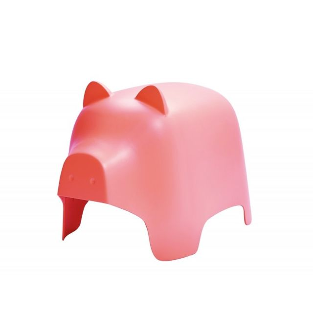 Meubletmoi Chaise enfant rose - Cochon
