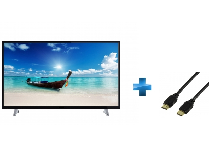 TV Led 43'' 4K Smart TK43DWUHD2018 + Cordon HDMI 1.4 - 1.5 mètres