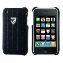 Cremieux - Coque arriere tissus Derby bleu film protection ecran inclus iPhone 3G/3GS