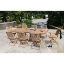 Table jardin bois massif - Achat Table jardin bois massif - Rue du ...