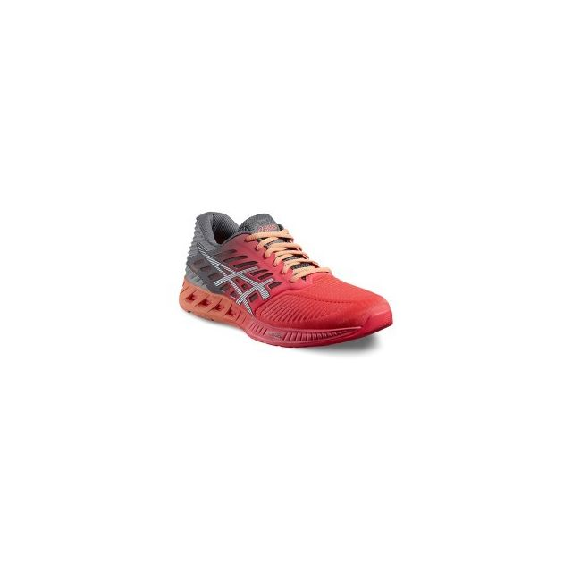 4ea3d8d76e9807 Asics - Chaussures FuzeX rose orange gris femme - pas cher Achat / Vente  Chaussures running - RueDuCommerce