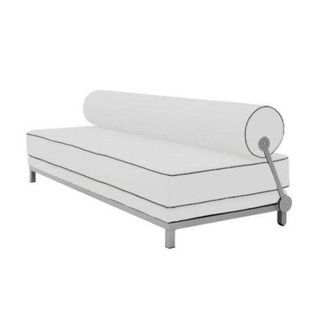 Inside 75 Canapé lit convertible design Sleep en tissu coton gris clair structure aluminium Softline