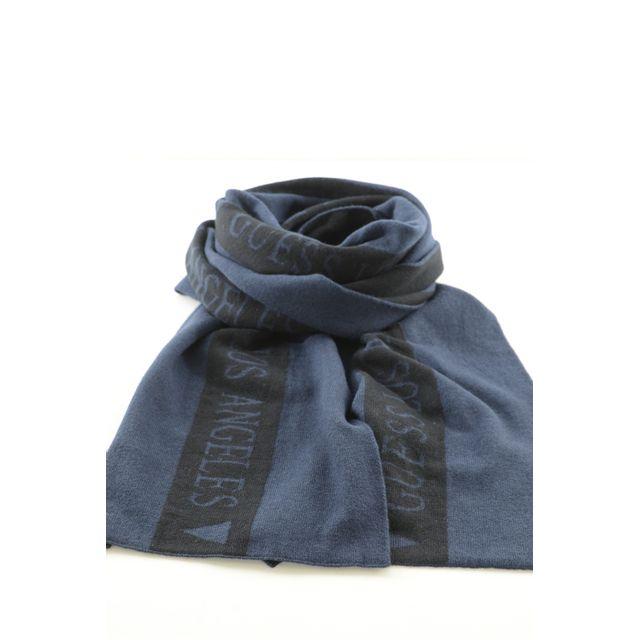 Guess - Echarpe Bicolore Logotée M63z15 Les Bleus - pas cher Achat   Vente  Etoles, châles - RueDuCommerce 962ca67aac6