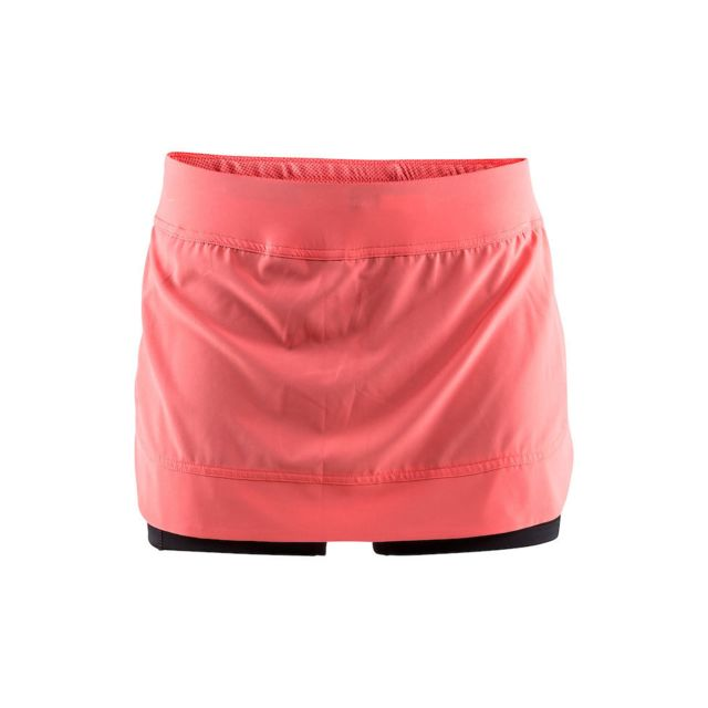 cb05b2e6d0e0d Craft - 3D Run Pep Jupe Dame Dahlia Jupe Running femme Rose - pas cher Achat    Vente Corsaires, cuissards, shorts - RueDuCommerce