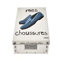 Incidence - Boite de rangement déco en plastique - Mes chaussures