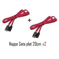 Cabling - Nappe câble sata sata rouge x 2