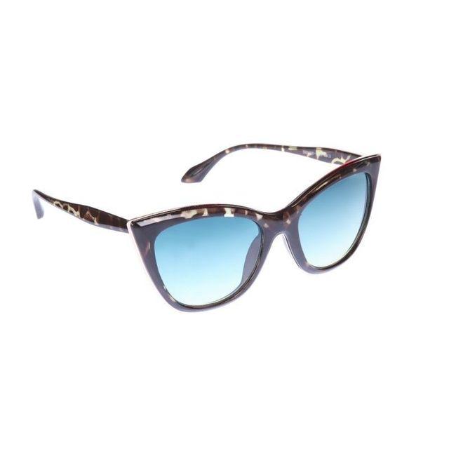Lamodeuse - Lunettes de soleil yeux de chat vert bleu - pas cher ... dacb3c586a50