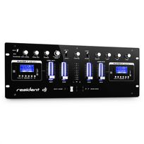 RESIDENT DJ - DJ405USB-BK Table de mixage USB 4 voies 2x Bluetooth Enregistrement