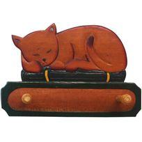 BARCLER - Patère chat en bois exotique