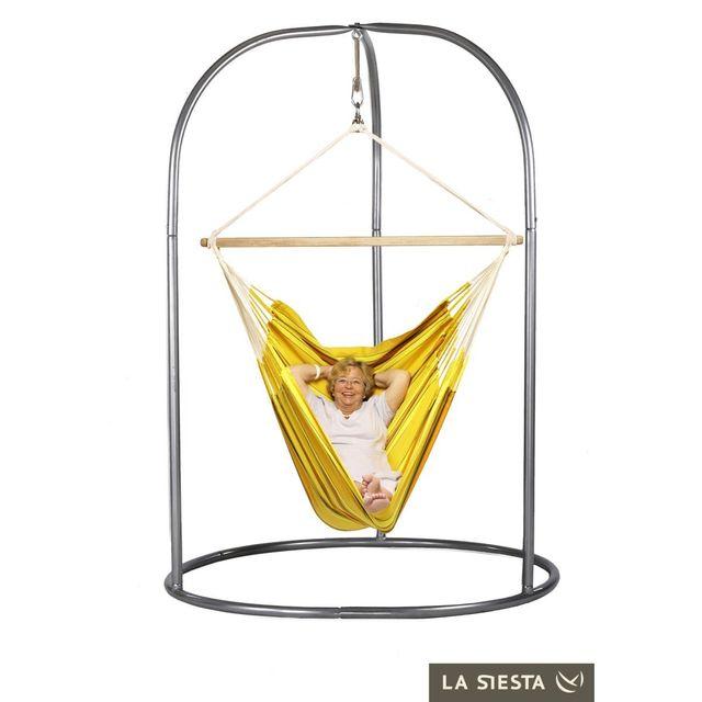 La Siesta Chaise Hamac Lounger Currambera Apricot Support Pour Romano