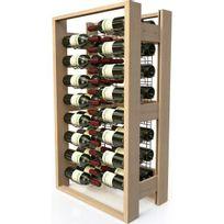 Visiorack - Meuble de rangement en bois pour 48 bouteilles - Hêtre Naturel Aci-vis300