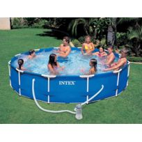 INTEX - Piscine tubulaire Metal Frame ronde 3,66 x 0,76 m