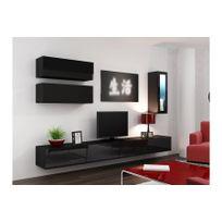 chloe design meuble tv design suspendu bini noir