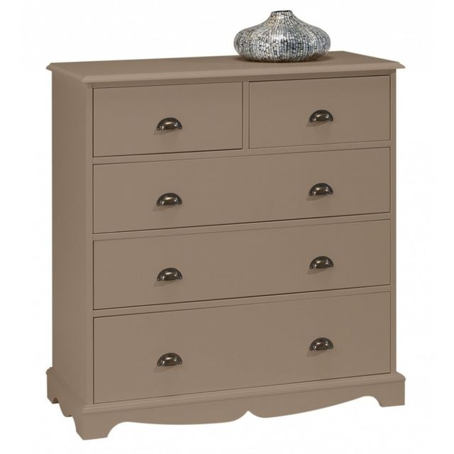 Beaux Meubles Pas Chers Commode Taupe 5 Tiroirs Charme