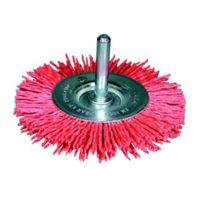 "Osborn - Brosse circulaire, fil abrasif oxyde d'aluminium ""Grittyflex"" avec tige de 6 mm. Couleur rouge 600 591-7802"