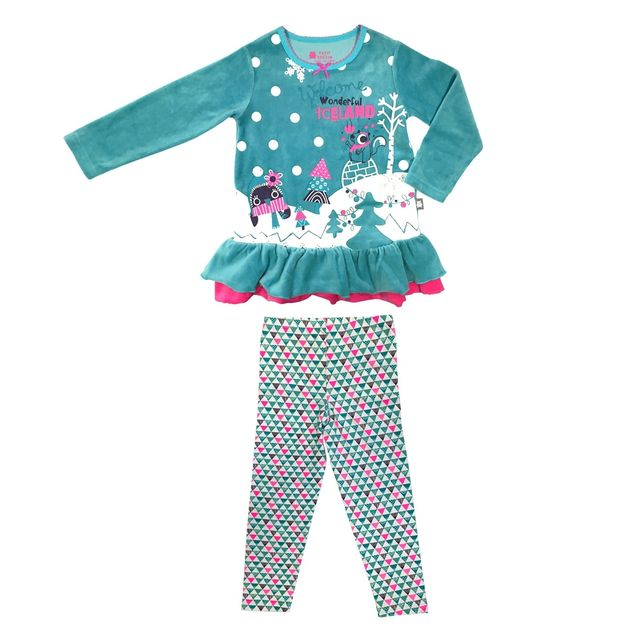 650bdb9c27940 Petit Beguin - Pyjama fille manches longues Iceland - Taille - 4 5 ans  104 110 cm - pas cher Achat   Vente Pyjamas - RueDuCommerce