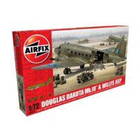 Airfix - Maquette avion et véhichule militaires : Douglas Dakota MkIII et Jeep Willys