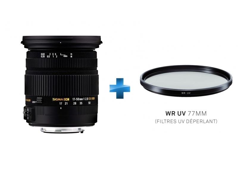 Zoom Transtandard 17-50mm F2.8 EX DC OS HSM - Monture Canon + Filtre UV 77mm