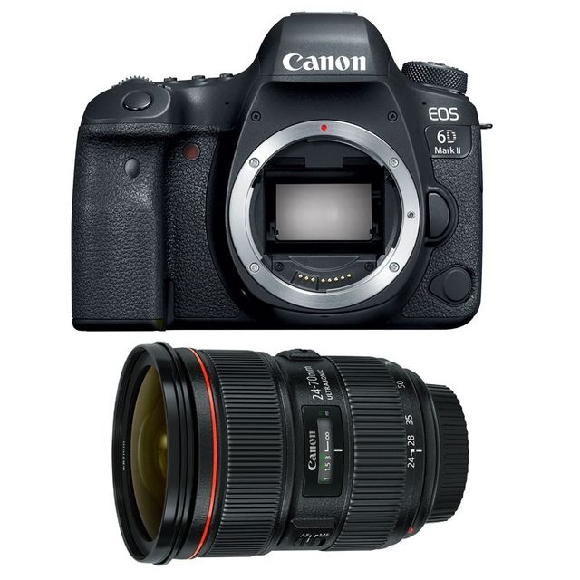 Canon Eos 6D Mark Ii + Ef 24-70mm f/2.8 L Ii Usm Garanti 3 ans