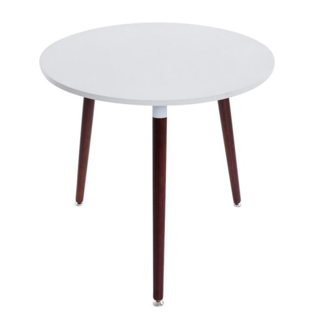 Decoshop26 Table De Cuisine Table D Appoint Ronde 3 Pieds En