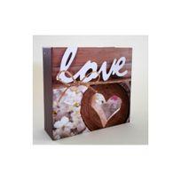 Ariane - Album photo shabby chic love and wood mémo pour 100 photos à pochettes 11x15 cm
