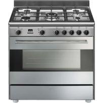 SMEG - cuisinière multifonction 115l 5 feux inox - bg91px9