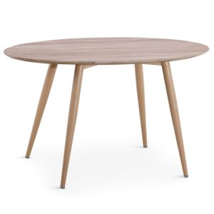 Menzzo table ovale scandinave sissi ch ne marron 130cm for Table ovale extensible pas cher
