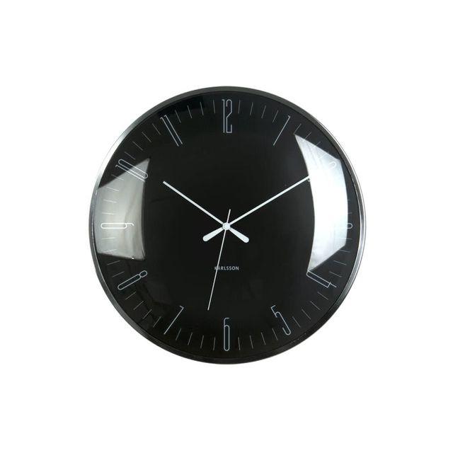 Karlsson Horloge Murale Ronde En Metal Verre Convexe D 40cm
