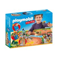Playmobil - 9329 Action - Pilotes motocross avec support de jeu