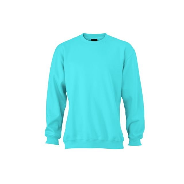 Rond amp; Turquoise Nicholson Jn040 James Col Shirt Sweat Bleu SR6FXwwqx