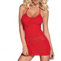 Obsessive - Mini robe à bretelles Bonnie rouge
