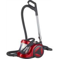 Klaiser - Aspirateur Sans Sac Confort Xl Ultra Puissant 2400W - Equipé d'une poignée ergonomique - Couleur rouge-noir