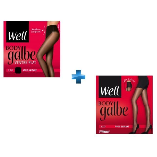 WELL - Lot de 2 collants - Body Galbe - pas cher Achat   Vente Bas ... c8f70482cdc
