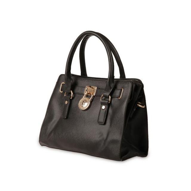 0e35291101 La Modeuse - sac cabas petit format avec cadenas noir - En Soldes ...
