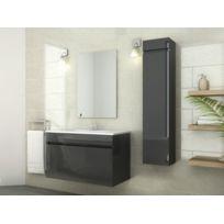 Marque Generique - Ensemble Kahi - meubles de salle de bain - Laqué gris