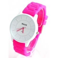Happy Color - Montre Femme Silicone Rose 2458
