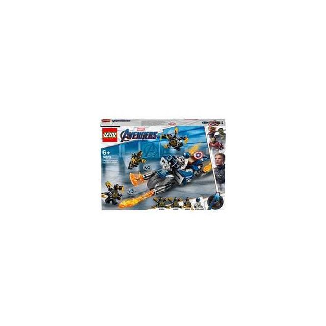 Lego 76123-® Marvel Avengers Captain America et l'attaque des Outriders