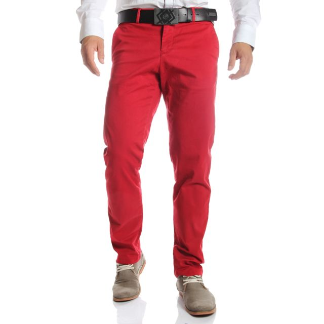 Pantalon chino homme Tommy Hilfiger regular rouge · Tommy