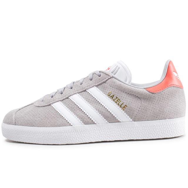 Adidas originals - Gazelle Grise Et Rose Femme - pas cher ...