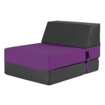 My Note Deco - Chauffeuse convertible pour enfant 1 place Anthracite    Violet 252798d3f00c