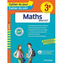 Magnard - Cahiers Du Jour/ Soir ; Maths ; Brevet ; Cycle 4 ; 3ème ; 14-15 Ans Nouveaux Programmes 2016